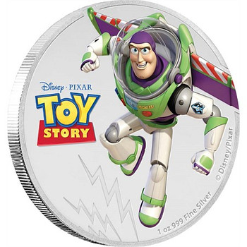 TOY STORY - 1 OZ FINE SILVER COIN - BUZZ LIGHTYEAR