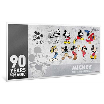Mickey Mouse 90th Anniversary 5g Silver Coin Note