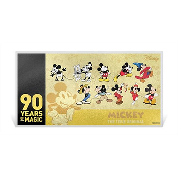 Mickey Mouse 90th Anniversary 1g Gold Coin Note