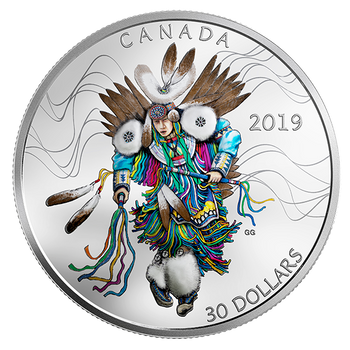 2019 $30 FINE SILVER COIN - FANCY DANCE