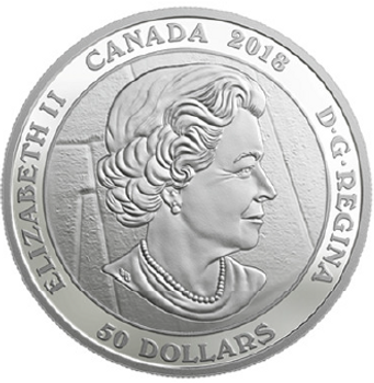 2018 $50 FINE SILVER COIN FAMOUS CANADIAN ART: EMILY CARR