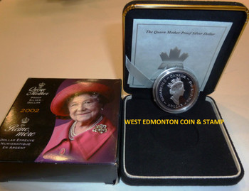 2002 PROOF SILVER DOLLAR - QUEEN MOTHER