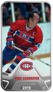 2019 $25 FINE SILVER COIN MONTREAL CANADIENS®: YVAN COURNOYER