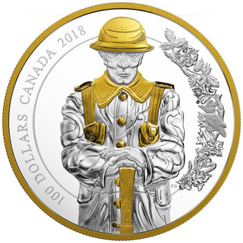 2018 $100 FINE SILVER COIN KEEPERS OF PARLIAMENT: THE SOLDIER