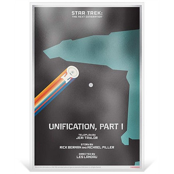 "Star Trek: The Next Generation - ""Unification, Pt. I"" - 5g Silver Coin Note"