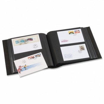 FIRST DAY COVER ALBUMS FOR 200 FDCS - RED