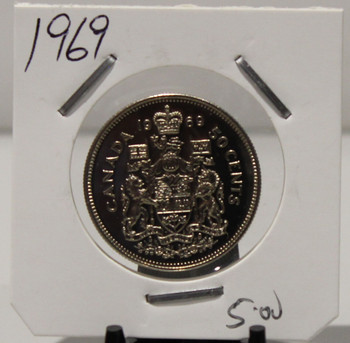 1969 CIRCULATION 50-CENT COIN - UNGRADED - AS PICTURED