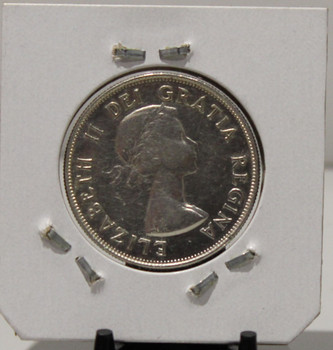 1953 CIRCULATION 50 - CENT COIN - NO SHOULDER FOLD - LARGE DATE - UNGRADED - AS PICTURED