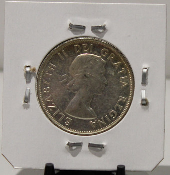 1953 CIRCULATION 50 - CENT COIN - SHOULDER FOLD - LARGE DATE - UNGRADED - AS PICTURED