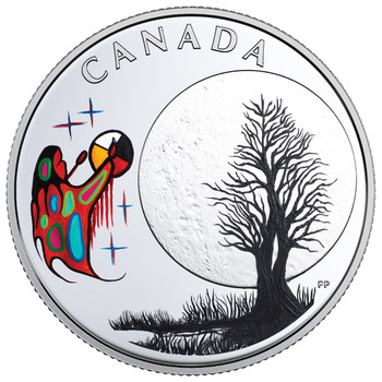 2018 $3 FINE SILVER COIN – THE THIRTEEN TEACHINGS FROM GRANDMOTHER MOON: FREEZING MOON