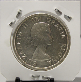 1958 CIRCULATION SILVER DOLLAR  - COMMEMORATIVE SILVER - BC COLONY CENTENNIAL - UNGRADED - AS PICTURED