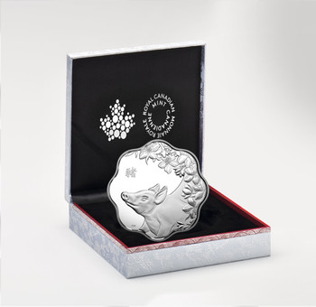 2019 $15 FINE SILVER COIN LUNAR LOTUS – YEAR OF THE PIG