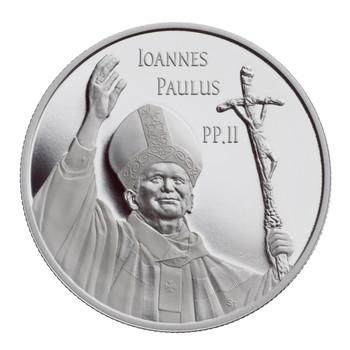 2005 $10 FINE SILVER COIN - POPE JOHN PAUL II