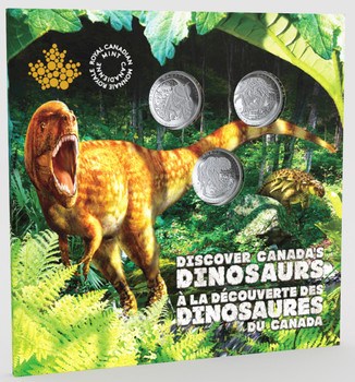 2019 25-CENT COIN SET DINOSAURS OF CANADA