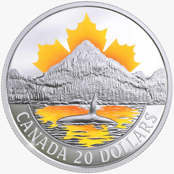 SALE - 2017 $20 FINE SILVER COIN CANADA'S COASTS SERIES: PACIFIC COAST