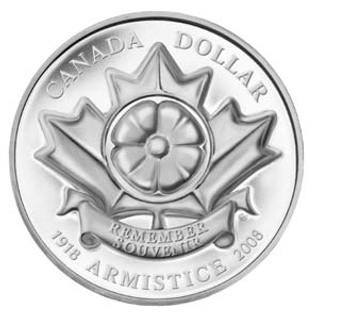 2008 LIMITED EDITION PROOF SILVER DOLLAR - 90TH ANNIVERSARY END OF WORLD WAR WW1