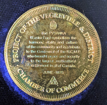 1975 PURE SILVER VEGREVILLE CHAMBER OF COMMERCE COMM. MEDALLION