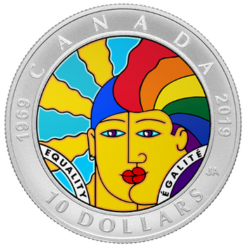2019 $10 FINE SILVER COIN EQUALITY