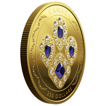 2019 $250 PURE GOLD COIN HER MAJESTY QUEEN ELIZABETH II'S SAPPHIRE TIARA