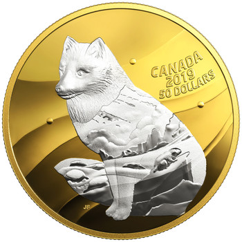 2019 $50 FINE SILVER COIN MY INNER NATURE: ARCTIC FOX