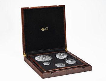 2019 FINE SILVER COIN SET THE CANADIAN MAPLE MASTERS COLLECTION