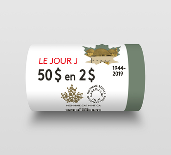 2019 $2 SPECIAL WRAP ROLL D-DAY (COLOURED)