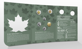 2019 COMMEMORATIVE COLLECTOR KEEPSAKE D-DAY 6-COIN SET WITH COLOURIZED TOONIE