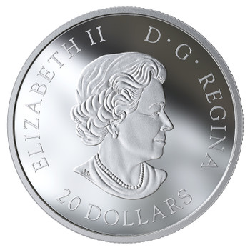 2019 $20 FINE SILVER COIN THE BELOVED MAPLE LEAF