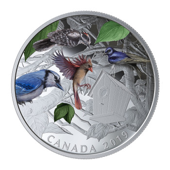 2019 $30 FINE SILVER COIN BIRDS IN THE BACKYARD