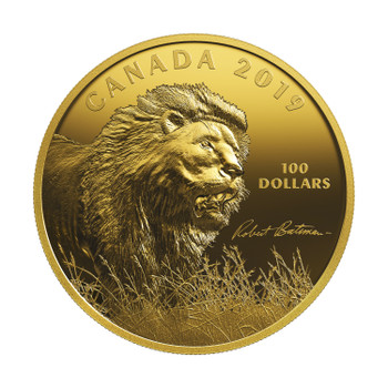 2019 $100 FINE SILVER COIN INTO THE LIGHT – LION