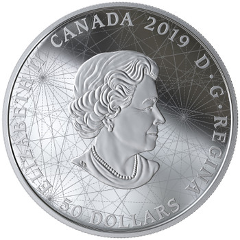 2019 $50 FINE SILVER COIN ROSE OF THE WINDS