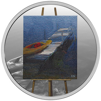 SALE - 2017 $20 FINE SILVER COIN – EN PLEIN AIR: A PADDLE AWAITS
