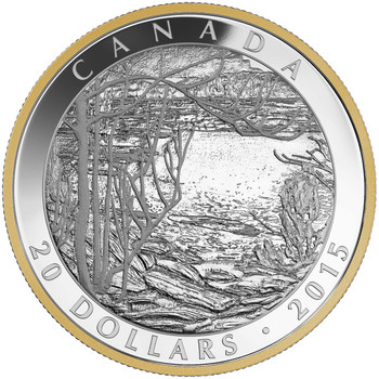 SALE - 2015 $20 FINE SILVER COIN - TOM THOMSON: SPRING ICE (1916)