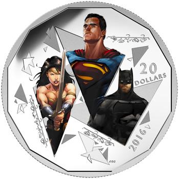 SALE - 2016 $20 FINE SILVER COIN BATMAN V SUPERMAN: DAWN OF JUSTICE™ – THE TRINITY