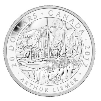 SALE - 2012 $20 FINE SILVER COIN - GROUP OF SEVEN - ARTHUR LISMER