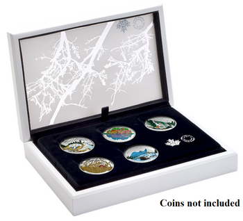 Subscription Box -NO COINS- 2016 $20 Fine Silver Landscape Illusion Presentation Case