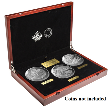 Subscription Box -NO COINS- 2015 Fine Silver 3-Coin Conservation Series Presentation Case