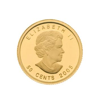 SALE - 2005 1/25OZ. 50-CENT FINE GOLD COIN - VOYAGEUR