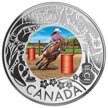 2019 $3 FINE SILVER COIN CELEBRATING CANADIAN FUN AND FESTIVITIES – RODEO