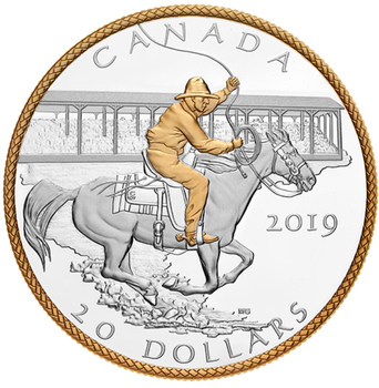 2019 $20 FINE SILVER COIN CALGARY STAMPEDE: VICTORY STAMPEDE