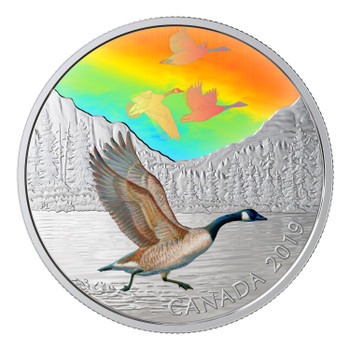 2019 $30 FINE SILVER COIN MAJESTIC BIRDS IN MOTION: CANADA GEESE