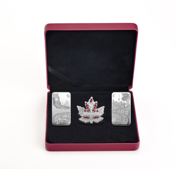SALE - 2018 FINE SILVER 3-COIN SET BENEATH THY SHINING SKIES