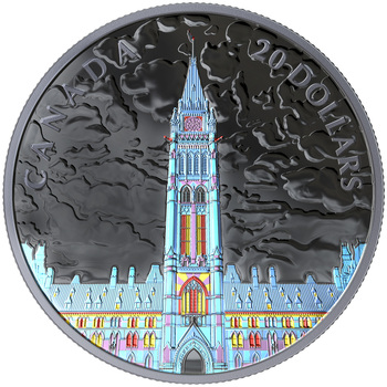 2019 $20 FINE SILVER COIN LIGHTS OF PARLIAMENT HILL