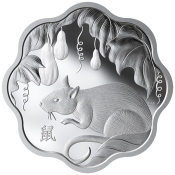 2020 $15 FINE SILVER COIN LUNAR LOTUS: YEAR OF THE RAT