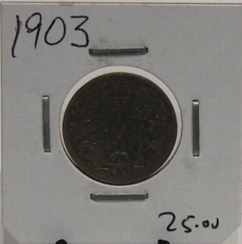1903 CIRCULATION 25- CENT COIN - UNGRADED - AS PICTURED