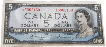 1954 CANADIAN $5 BILL