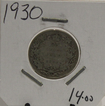 1930 CIRCULATION 25-CENT COIN - UNGRADED - AS PICTURED