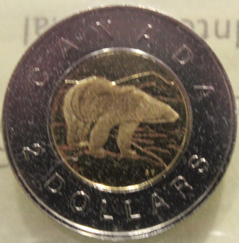 1999 CIRCULATION $2 COIN - POLAR BEAR - NUMIS BU - MS-67