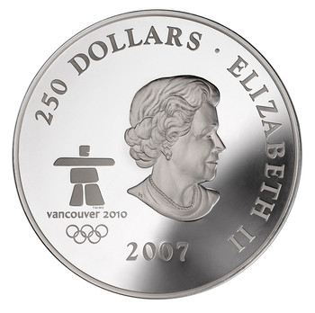 2007 FIRST OLYMPIC FINE SILVER KILO - EARLY CANADA - QUANTITY SOLD: 2,450