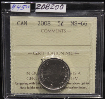2008 CIRCULATION 5-CENT COIN - MS-66